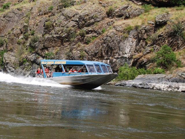 Boat Gliding Hells Canyon Adventures