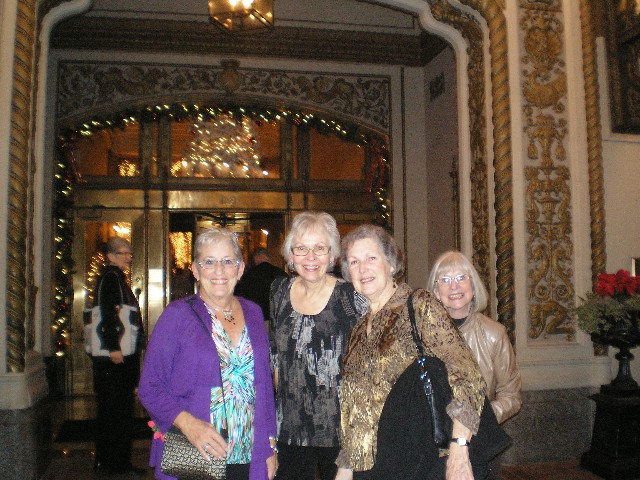 GROUP of Ladies - Dinner Out Palace background