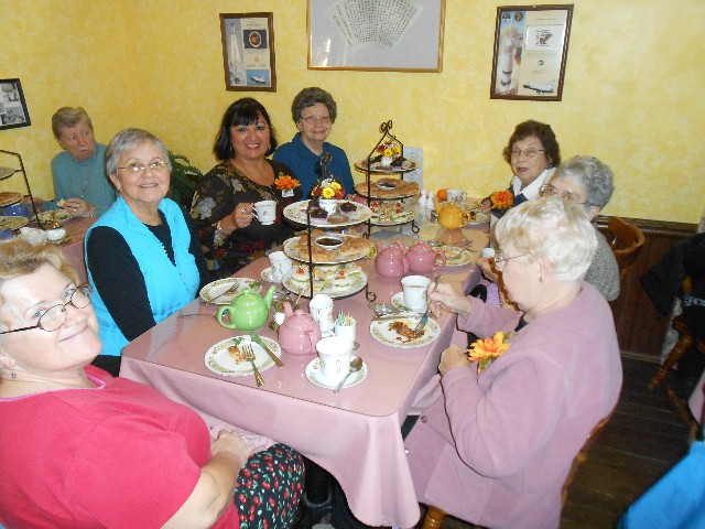 Tea Time with Group of Ladies