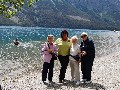 Sylvia with 3 ladies - scenic lake background